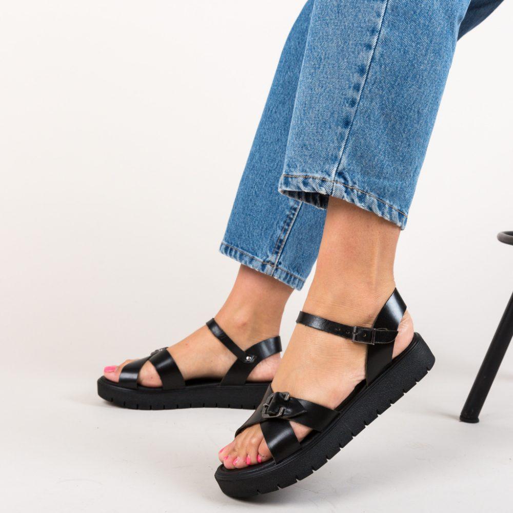 Sandale Masumo Negre, piele