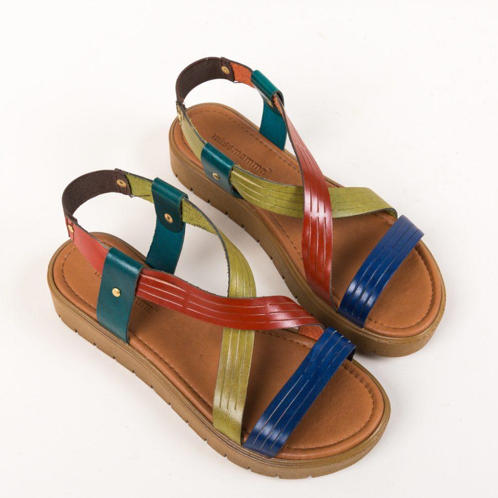 Sandale fara toc Megaso Multi, piele
