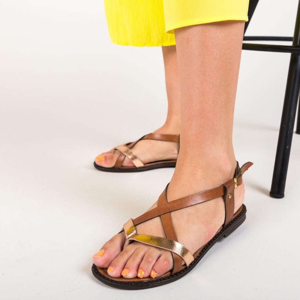 Sandale fara toc Mismaro Maro piele