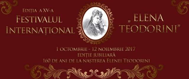 """Festivalul Internațional """"Elena Teodorini"""" la a XV-a editie"""