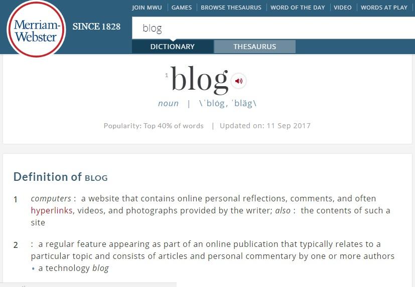 Blogul si istoria lui