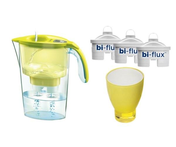 Cana Galben + 3 filtre Bi-flux + pahar de colectie
