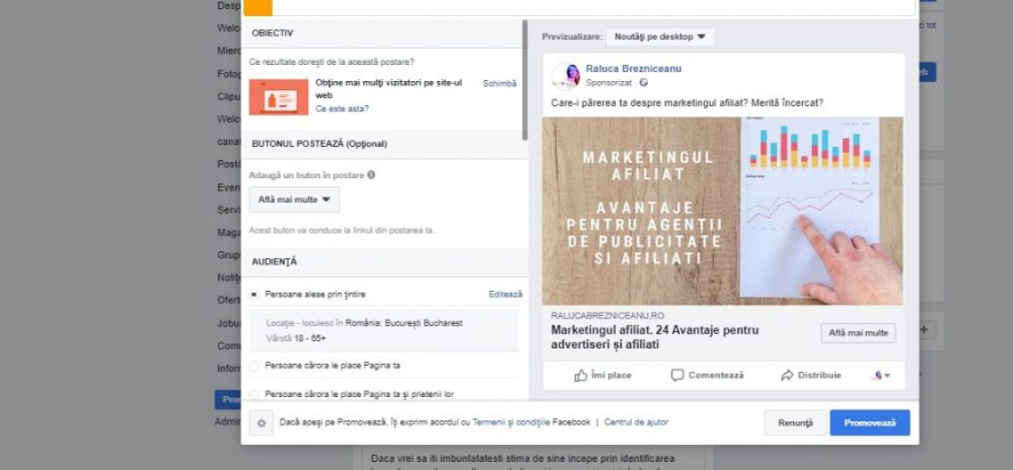 Promovare facebook Ads