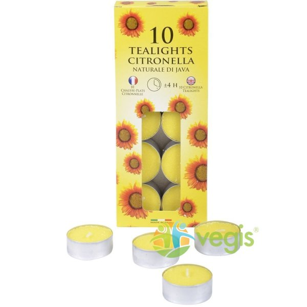 Set Lumanari Tip Pastila Aroma Citronella Anti-Tantari 10 buc. SER WAX INDUSTRY