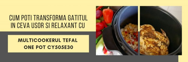 Cum poti transforma gatitul in ceva usor si relaxant cu multicookerul Tefal One Pot CY505E30
