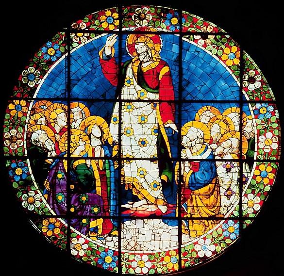 """Inaltarea"" vitraliu dupa un desen de Ghiberti"