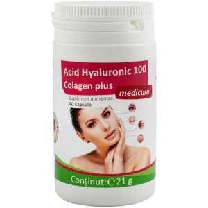 Acid Hyaluronic 100 colagen plus Medicura 40 capsule