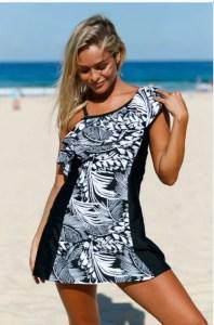 Costum de baie stil rochie