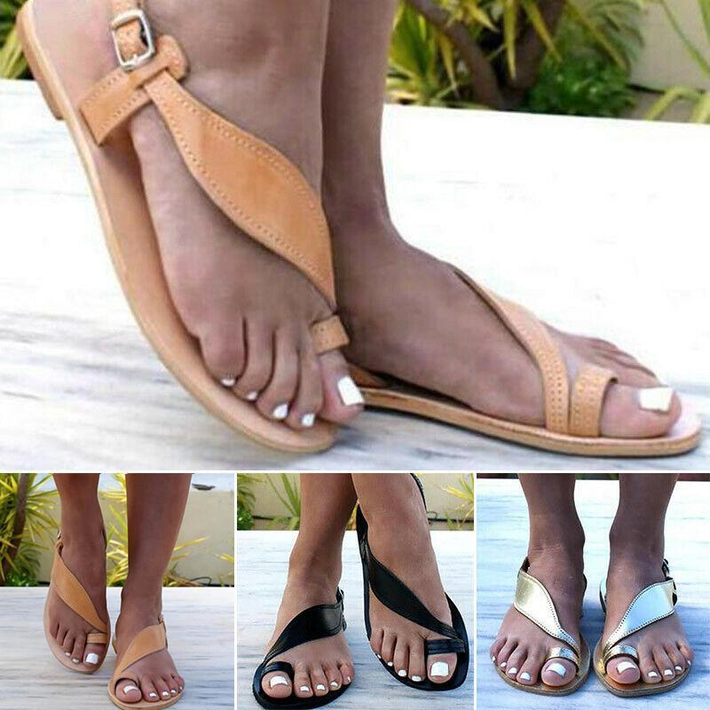 Sandale de vară pentru femei, moderne și cu talpă joasă, prindere pe degetul mare