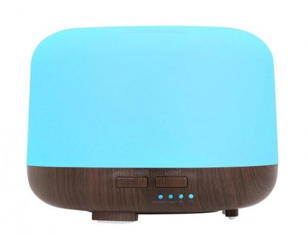 Difuzor uleiuri esentiale, umidificator aromaterapie, ultrasunete cu telecomanda 300 ml, multicolor
