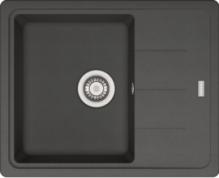 Chiuveta Franke Grafite BFG 611-62, fragranite, cuva reversibila, negru, 780 x 500 mm