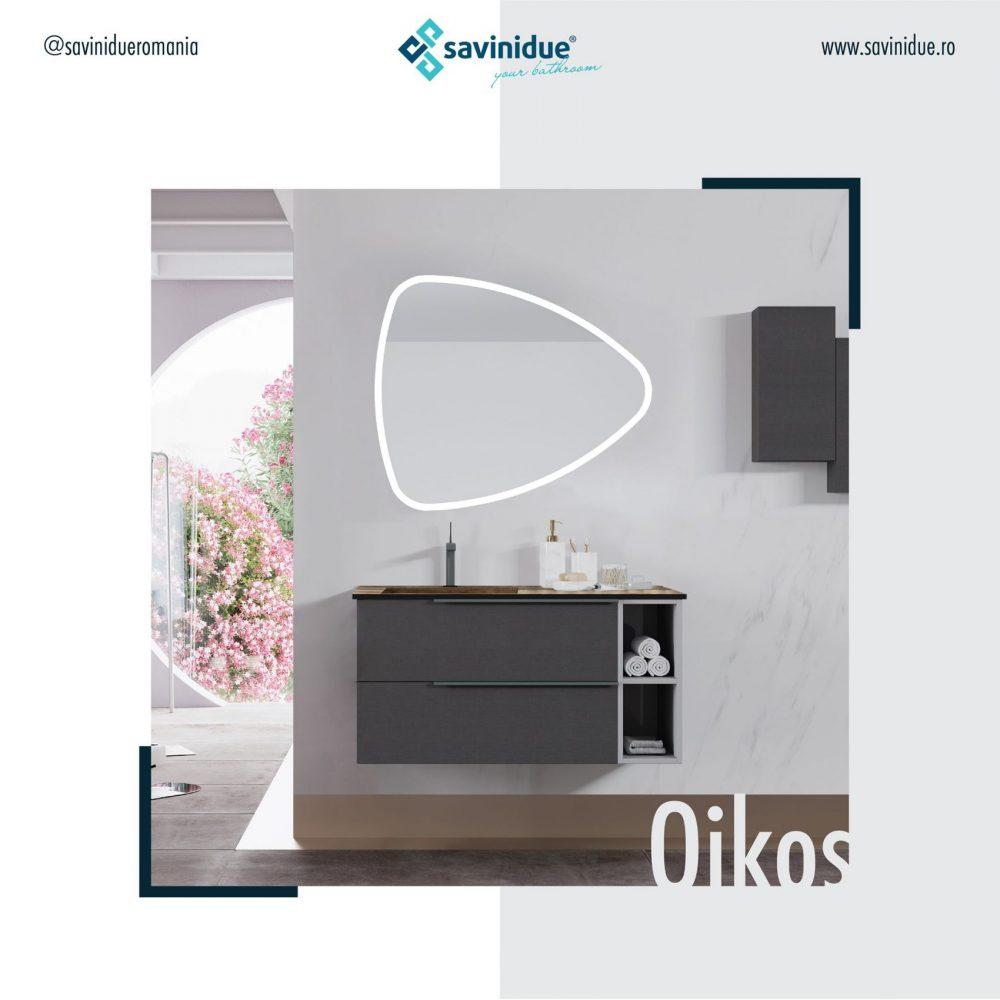 Mobilier de baie pentru toate simturile si pentru fiecare personalitate Colectia Oikos Savaini Due