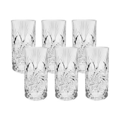 Rafinare la masa- cristaluri Boemia. 5 tipuri de pahare de cristal Set 6 Pahare Apă Pinwheel, Cristal Bohemia, 370 ml