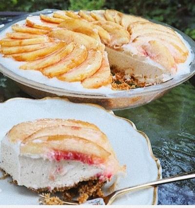 le gâteau au fromage frais(桃と紅茶のレアチーズケーキ)
