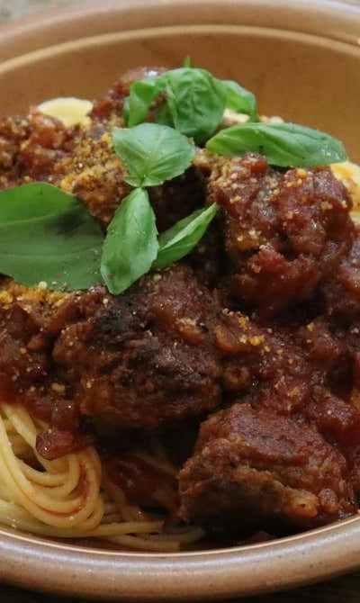 絶品ミートボールパスタの作り方🍝!「Meatball pasta」
