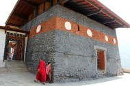 The 12th Century Changangkha Lhakhang is built on a site chosen by Lama Phajo Drukgom Shigpo from Tibet.