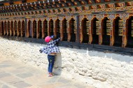 Bhutanese parents bring their newborns and young children to Changangkha Lhakhang for new names and blessings from the protector deity Tamdrin who resides in its inner sanctum.