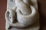 Snake, Carved stonework: The main materials used in Indian carved stonework are marble, alabaster, and soapstone.