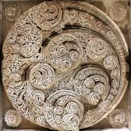A piece of Hindu-Jain sculptural genius on the ceiling of Jami Masjid. This panel took my breath away!