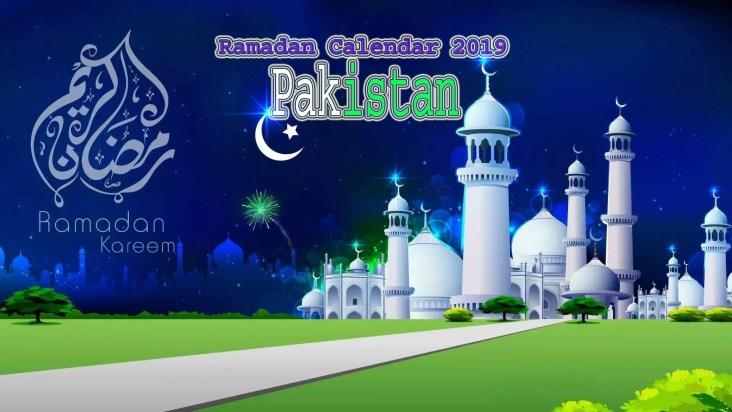 PakistanRamadan Calendar 2019