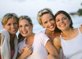 Four Women Friends at the Beach