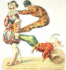image of harlequinade characters