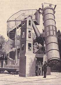 120cm telescope in the gardens of the Paris Observatory, September 1875