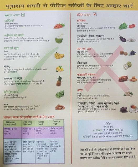 stone diet chart