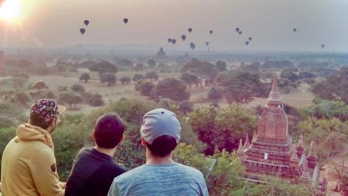 Globos aerostáticos en Bagan