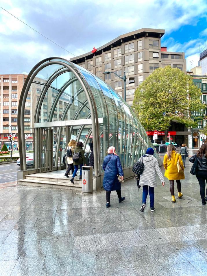 Fosteritos del metro de Bilbao