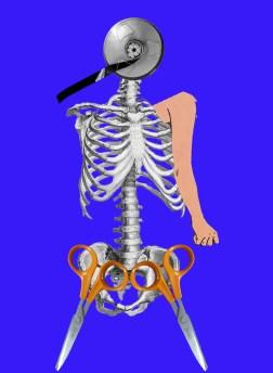 Photo, scan de ciseaux scan de bobine vhs, et gravure, dessin visuel de concert Ramataupia