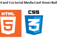 Html And Css Social Media Card Hover Built #1