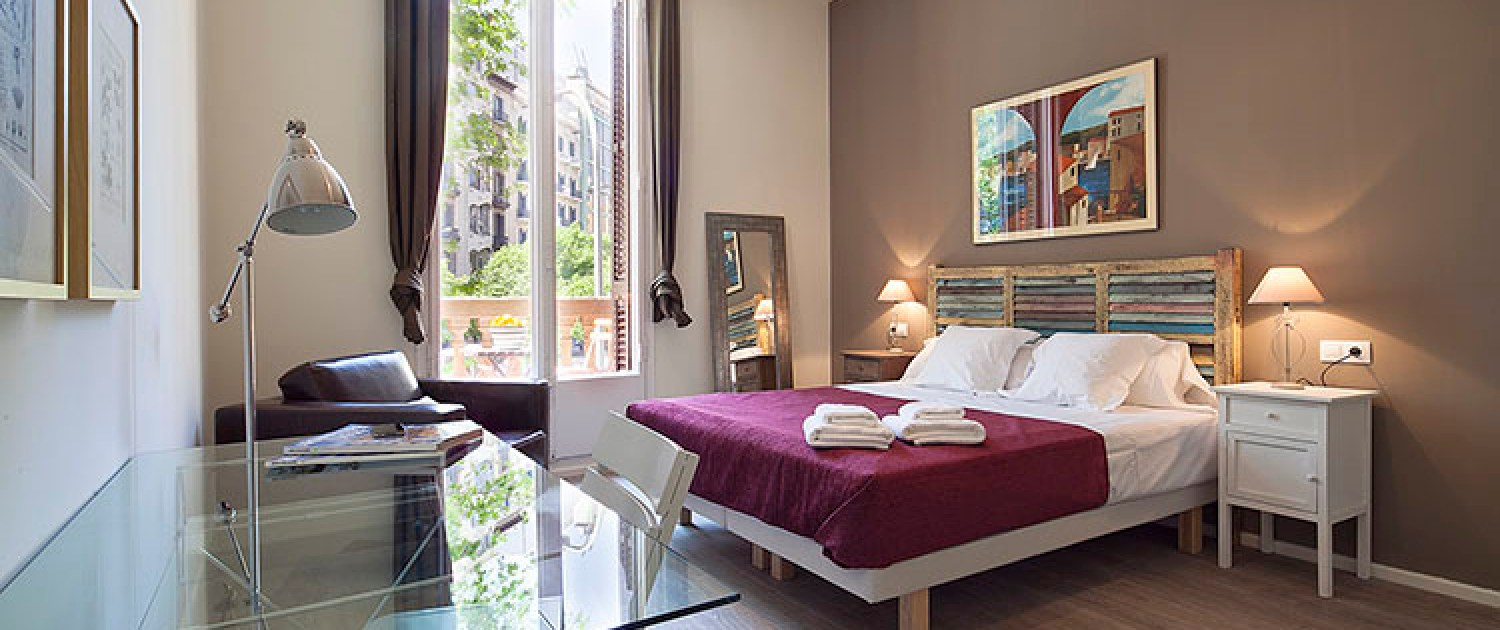 apartments in Barcelona double bedroom6