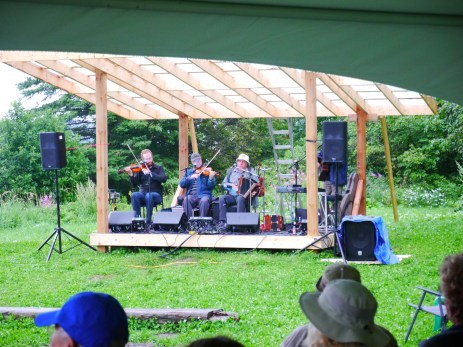 We could sit out of the rain under a canopy, but everyone had fun dancing out in the rain as well!