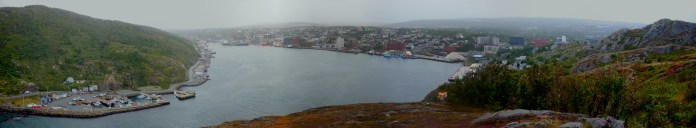 The view of St. John's Harbour from Signal Hill