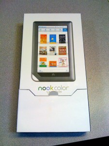 The Nook in its packaging