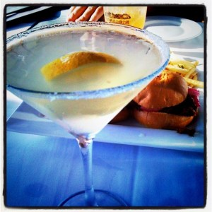 Lemondrop martini & sliders