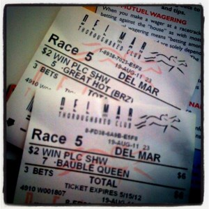 betting slips from del mar