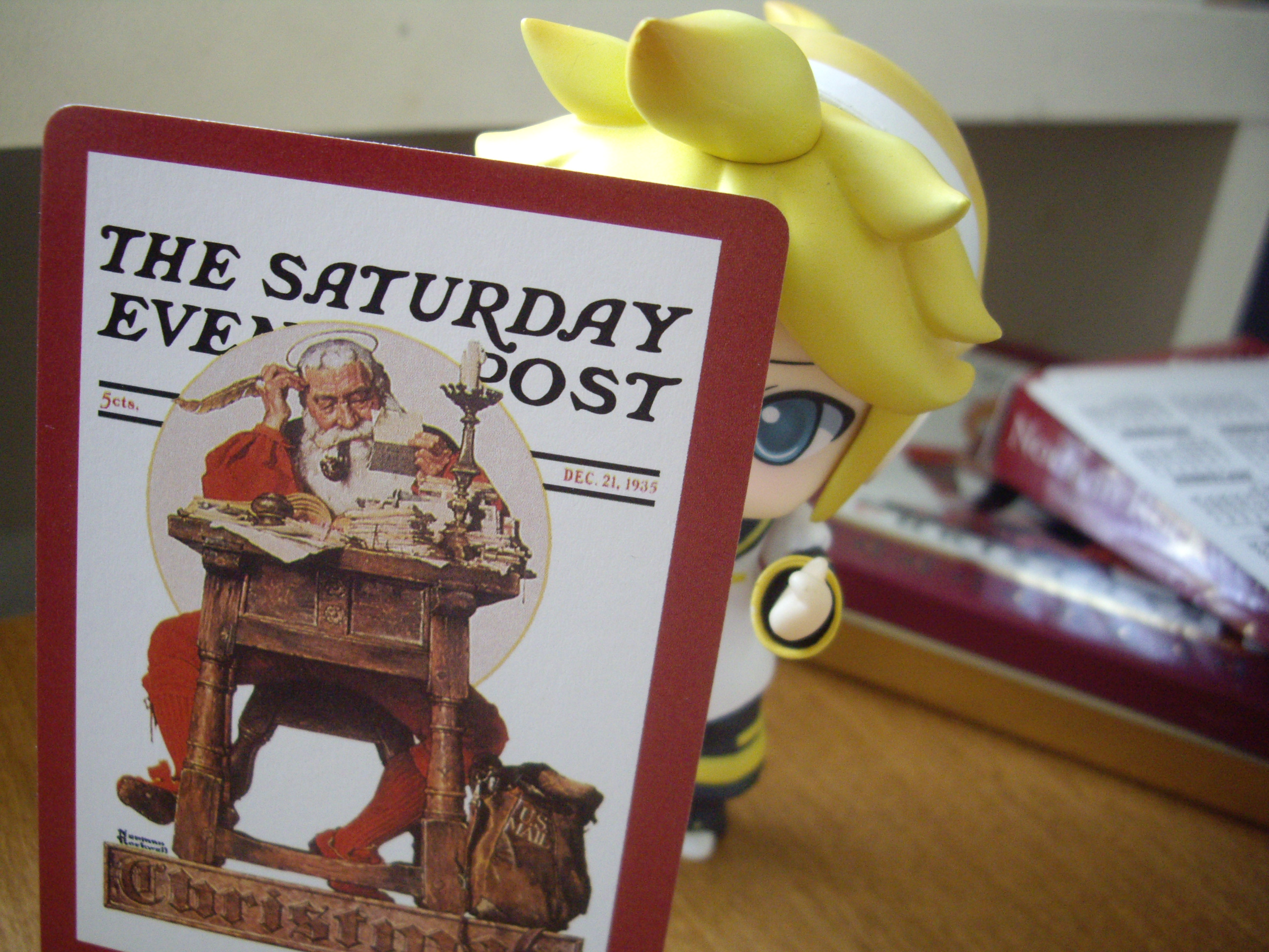 Norman Rockwell : Santa's always watching you.