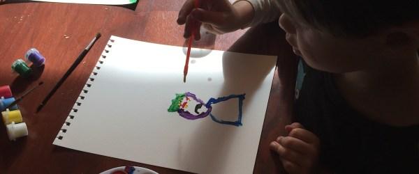 Kindergartener Painting