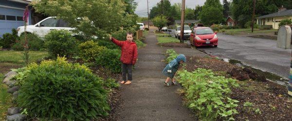 Kids on the Sidewalk