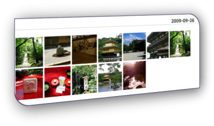 Photos displayed on one of the user's trips on Triptance.com