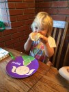Hazel knows the best way to eat pancakes.