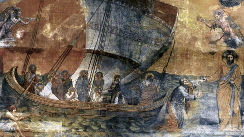 Peter, Walking on Water, and the Trust of a Drowning Man
