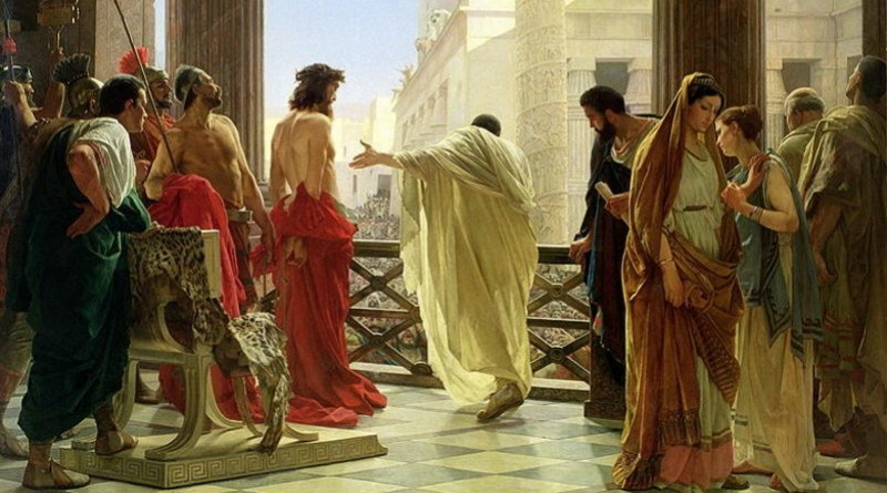 Pontius Pilate with Jesus