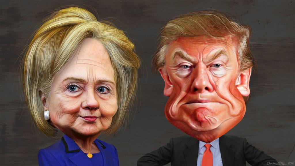 Hillary Clinton - Donald Trump - Caricatures