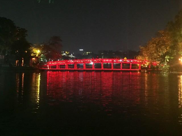 The Huc Bridge at Hoan Kiem Lake