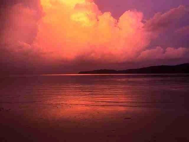 Sihanoukville beach sunset