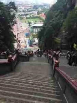 Top of the 272 Steps at Batu Caves