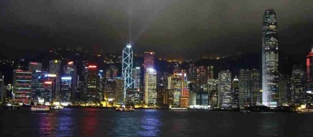 Skyline night lights